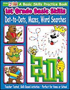 1st Grade Basic Skills: Dot-to-Dots, Mazes, Word Searches (Enhanced eBook)