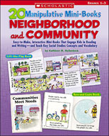 20 Manipulative Mini-Books: Neighborhood and Community