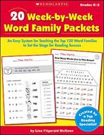 20 Week-by-Week Word Family Packets (Enhanced eBook)
