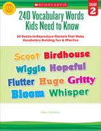 240 Vocabulary Words Kids Need to Know: Grade 2