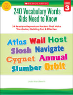 240 Vocabulary Words Kids Need to Know: Grade 3