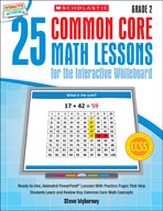 25 Common Core Math Lessons for the Interactive Whiteboard: Grade 2 (Enhanced eBook)