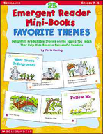 25 Emergent Reader Mini-Books: Favorite Themes (Enhanced eBook)