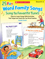 25 Fun Word Family Songs Sung to Favorite Tunes (Enhanced eBook)