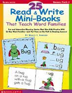 25 Read & Write Mini-Books That Teach Word Families (Enhanced eBook)