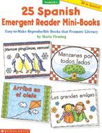25 Spanish Emergent Reader Mini-Books (Enhanced eBook)
