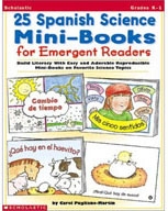 25 Spanish Science Mini-Books For Emergent Readers (Enhanc