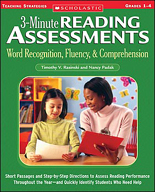 3-Minute Reading Assessments: Word Recognition, Fluency, and Comprehension: Grades 1-4 (Enhanced eBook)