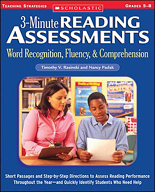 3-Minute Reading Assessments: Word Recognition, Fluency, and Comprehension: Grades 5-8