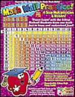 4 Step Multiplication/Division Math Wall Practice Book (En