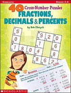 40 Cross-Number Puzzles: Fractions, Decimals and Percents (Enhanced eBook)