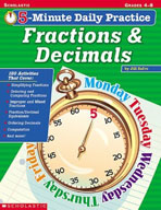 5-Minute Daily Practice: Fractions and Decimals