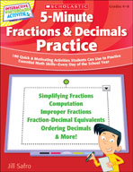 5-Minute Fractions and Decimals Practice (Promethean Version)