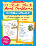 50 Fill-in Math Word Problems: Addition and Subtraction