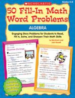 50 Fill-in Math Word Problems: Algebra (Enhanced eBook)
