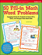 50 Fill-in Math Word Problems: Grades 2-3