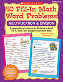 50 Fill-in Math Word Problems: Multiplication and Division (Enhanced eBook)