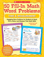 50 Fill-in Math Word Problems: Time and Measurement
