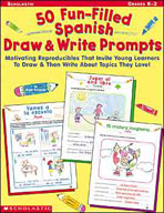 50 Fun-Filled Spanish Draw and Write Prompts (Enhanced eBook)
