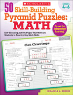 50 Skill-Building Pyramid Puzzles: Math (Grades 4-6)