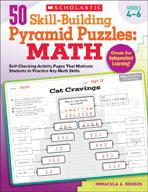 50 Skill-Building Pyramid Puzzles: Math (Grades 4-6) (Enha