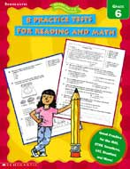 8 Practice Tests for Reading and Math