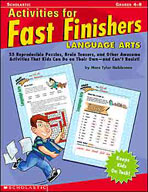 Activities for Fast Finishers: Language Arts