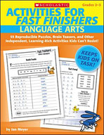 Activities for Fast Finishers: Language Arts (Enhanced eBook)