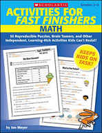 Activities for Fast Finishers: Math (Enhanced eBook)