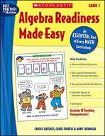 Algebra Readiness Made Easy: Grade 1