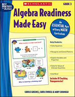 Algebra Readiness Made Easy: Grade 3 (Enhanced eBook)