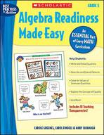 Algebra Readiness Made Easy: Grade 5