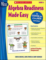 Algebra Readiness Made Easy: Grade 6