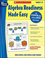 Algebra Readiness Made Easy: Grades 7-8