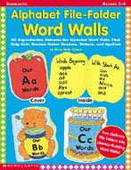Alphabet File-Folder Word Walls (Enhanced eBook)