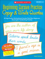Beginning Cursive Practice: Copy and Write Quotes
