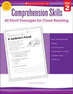Comprehension Skills: 40 Short Passages for Close Reading: Grade 2 (Enhanced eBook)