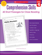 Comprehension Skills: 40 Short Passages for Close Reading: Grade 4