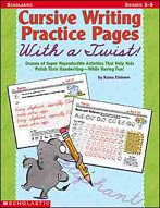 Cursive Writing Practice Pages With a Twist!