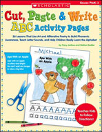 Cut, Paste and Write ABC Activity Pages
