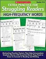 Extra Practice for Struggling Readers: High-Frequency Word