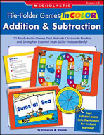 File-Folder Games in Color: Addition and Subtraction (Enhanced eBook)