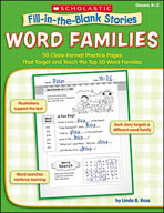 Fill-in-the-Blank Stories: Word Families (Enhanced eBook)