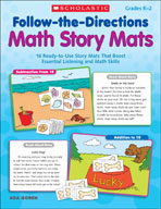 Follow-the-Directions Math Story Mats (Enhanced eBook)