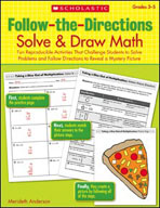Follow-the-Directions: Solve and Draw Math (Grades 3-5) (E