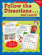 Follow the Directions . . . and Learn! Grades: K-1 (Enhanced eBook)