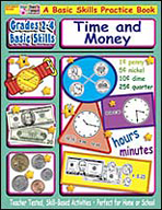 Grades 2-4 Basic Skills: Time and Money (Enhanced eBook)