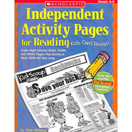 Independent Activity Pages for Reading Kids Can't Resist!