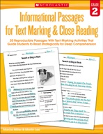 Informational Passages for Text Marking & Close Reading: Grade 2 (Enhanced Ebook)