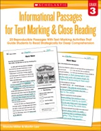 Informational Passages for Text Marking & Close Reading: Grade 3 (Enhanced Ebook)